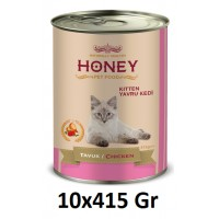 Honey Premıum Kitten Tavuklu Yavru Kedi Konservesi 415 Gr (10 Adet)