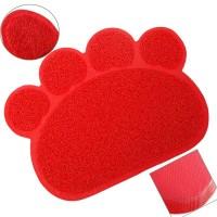 Happy Paws Kedi Paspası Kırmızı 60x45 Cm.