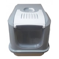 Happy Paws Büyük Kapalı Kedi Tuvaleti 50x38 Cm