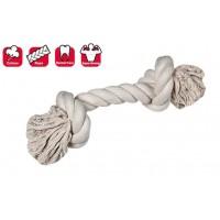Karlie 2 Düğümlü İp Köpek Oyuncağı M 30  Cm Beyaz