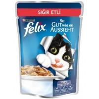 Felix Sığır Etli Yetişkin Kedi Konservesi 100 Gr