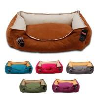 Lepus Soft Plus Mikrofiber Süet Kumaş Kedi ve Köpek Yatağı Small 46x58x22h cm