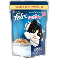 Felix Junior Tavuklu Yavru Kedi Konservesi 100 Gr