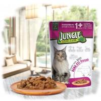Jungle Biftekli Kısırlaştırılmış Yetişkin Kedi Konservesi 100 Gr