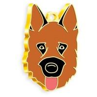 24 Ayar Altın Kaplama Alman Kurdu Köpek Künyesi