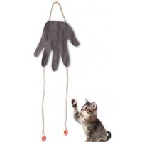 *Agira El Şeklinde Peluş Kedi Oyuncağı Kahverengi
