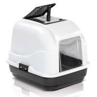 Imac Easy Cat Kapali Filtreli Kedi Tuvaleti Beyaz/Siyah 50X40X40 Cm