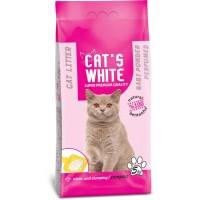 Cats White Bebek Pudrası Kokulu Topaklaşan Doğal Bentonit Kedi Kumu 6 Lt 5 Kg