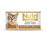 Nutri Feline Tavuklu Ve Kuzu Etli Tahılsız Yetişkin Kedi Konservesi 85 Gr
