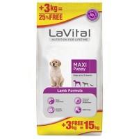 La Vital Maxi Puppy Lamb Kuzu Etli Yavru Köpek Maması 12+3 Kg Hediyeli