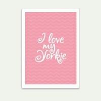 Lolidogs I Love My Yorkie Çerçeve