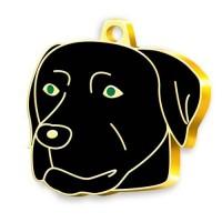 24 Ayar Altın Kaplama Black Labrador Köpek Künyesi