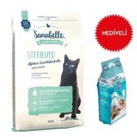 Sanabelle Sterilized Kısırlaştırılmış Tahılsız Kedi Maması 10 Kg+Paticat Kedi Kumu 10 Kg Hediye