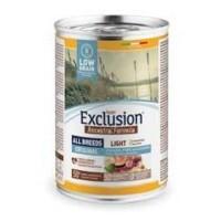Exclusion Ancestral Formula Düşük Tahıllı Light Tavuklu, Domuz Etli ve Somonlu Yetişkin Köpek Konservesi 400 Gr
