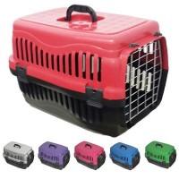 Pet Style Kedi Köpek Metal Kapılı Plastik Taşima Çantasi Küçük Boy 49.5 Cm