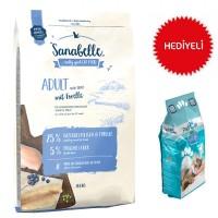 Sanabelle Adult Trout Glutensiz Balıklı Kedi Maması 10 Kg+Paticat Kedi Kumu 10 Kg Hediye