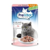 Prevital Naturel Jöleli Alabalıklı(%74) Kedi Konservesi 85 Gr