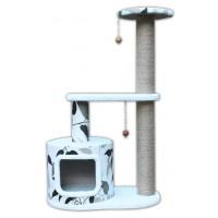 Agira Desenli Yuvalı Kedi Tırmalama ve Oyun Evi 96 cm