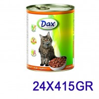Dax Kümes Hayvanlı Kedi Konservesi 415 Gr. (24 Adet)