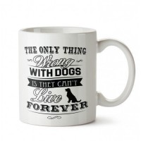 Her Zaman Köpek 2 Tasarım Porselen Kupa