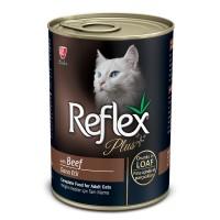 Reflex Plus Beef Dana Etli Konserve Yetişkin Kedi Maması 400 gr