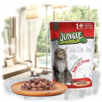 Jungle Biftekli Yetişkin Kedi Konservesi 100 Gr