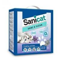 Sanicat Sani&Clean Aktif Oksijenli Topaklaşan Kedi Kumu 10lt
