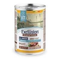 Exclusion Ancestral Formula Düşük Tahıllı Tavuklu, Domuz Etli ve Yumurtalı Yetişkin Köpek Konservesi 400 Gr