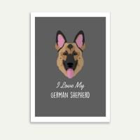 Lolidogs German Shepherd Çerçeve