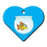 Dalis Pet Tag - Balık Geniş Kalp Kedi Köpek Künyesi