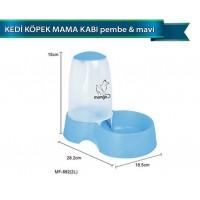 Dolphin Kedi Köpek Mama Kabı Pembe-Mavi