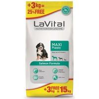 La Vital Dog Puppy Maxi Büyük Irk Somon Balıklı Yavru Köpek Maması 12 Kg+3 Kg Hediyeli