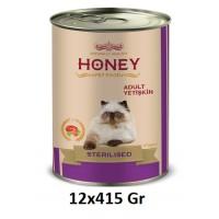 Honey Premium Somonlu Kısırlaştırılmış Yetişkin Kedi Konservesi 415 Gr (12 Adet)