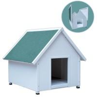 *Agira Üstü Açılır Klasik Köpek Kulübesi Small Beyaz 61x78x72h cm