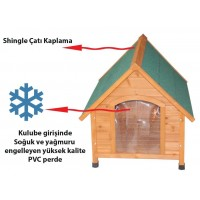 Tommy Ahşap Köpek Kulubesi 96X112X105 Cm-Xl