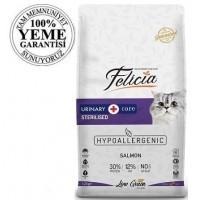 Felicia High Premium Low Grain Düşük Tahıllı Sterilised Somonlu Kısırlaştırılmış Kedi Maması 12 Kg
