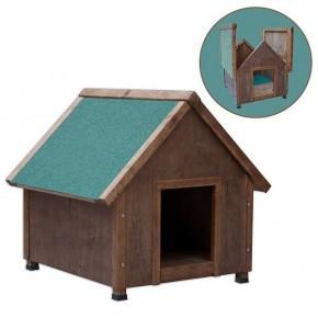 *Agira Üstü Açılır Klasik Köpek Kulübesi Small Kahverengi 61x78x72h cm