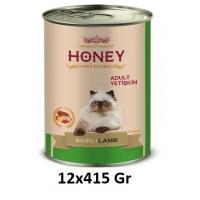 Honey Premium Kuzu Etli Yetişkin Kedi Konservesi 415 Gr (12 Adet)
