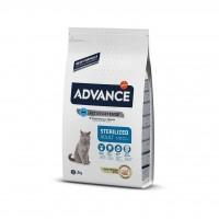 Advance Sterilised Hindili Kısırlaştırılmış Yetişkin Kedi Maması 3 Kg
