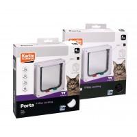 Karlie 4 Yönlü Kilitli Kedi Kapısı 23.5X25.2 Cm Beyaz
