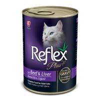 Reflex Plus Biftekli ve Ciğerli Yetişkin Kedi Konservesi 400 gr
