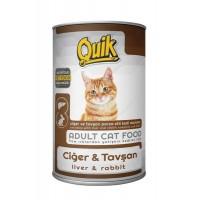 Quik Ciğer Ve Tavşanli Yetişkin Kedi Konservesi 415 Gr