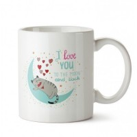 Pet Lovers Ay-Kedi Tasarım Porselen Kupa