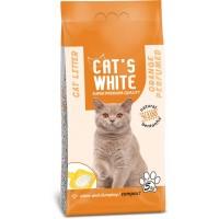 Cats White Portakal Kokulu Topaklaşan Doğal Bentonit Kedi Kumu 6 Lt 5 Kg