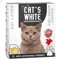 Cats White Grey Odour Control Aktif Karbonlu Ekstra Topaklaşan Kedi Kumu 6 Lt