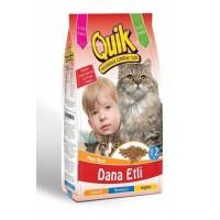 Quik Dana Etli Yetişkin Kedi Maması 12 Kg