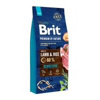 Brit Premium By Nature Sensitive Kuzu Etli Pirinçli Yetişkin Köpek Maması 15 Kg