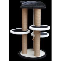 *Agira Trio Çok Katlı Kedi Tırmalama ve Oyun Standı Yükseklik 80 cm
