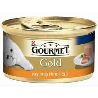 Gourmet Gold Kiyilmiş Hindi Etli Yetişkin Kedi Konservesi 85 Gr
