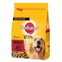 Pedigree Biftekli Ve Kümes Hayvanlı Yetişkin Köpek Maması 2.6 Kg